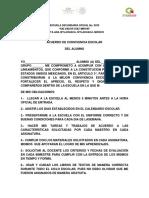 Acuerdo Para La Convivencia Escolar 2016-2017