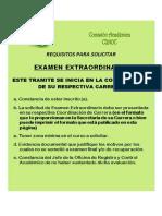Requisitos y formato para solicitar Examen Extraordinario