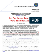 Red Flag Warning Declaration