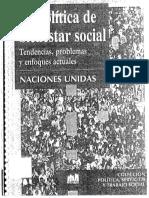 La Politica de Bienestar Social