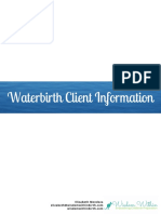 ho waterbirth client packet