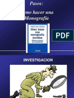 pasos para elaborar una monografia