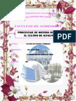 Informe Materia Seca en Alfalfa