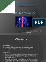 Trauma Medular Ppt