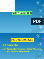 Chapter 4 Polynomials