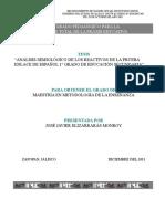 ANÁLISIS SEMIOLÓGICO DE LOS REACTIVOS DE LA PRUEBA ENLACE DE ESPAÑOL 1° GRADO DE EDUCACIÓN SECUNDARIA