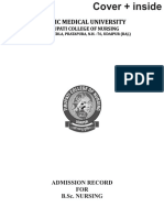 Admission Format Bsc Nursing