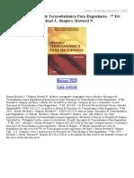 Princípios de Termodinâmica Para Engenharia 7ª Ed 2013