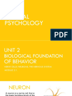 Biological Foundation of Behavior