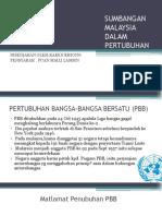 Sumbangan Malaysia Dalam Pertubuhan