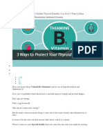 Thiamine and Thyroid