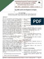 Critical thinking skills and its development strategies