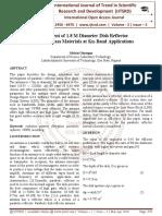 Development of 1.8 M Diameter Dish Reflector using Fiberglass Materials at Ku-Band Applications