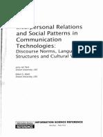 Mediated Group Communication (McArthur, 2009)