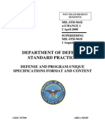 MIL-STD-961E Defense and Program-Unique Specific a It On Format and Content