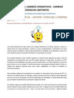 05e. Cambios Congnitivos - Cambiar Creencias Limitantes