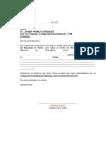 Modelo de Carta Compromiso de Asesor