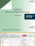 TexMind Warp Knitting Pattern 2890 DOLARES