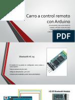 Carro a Control Remoto Con Arduino