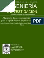 Algoritmo de Aproximaciones Estocásticas Para La Optimización De