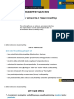 Research Writing Series 3 Better Sentences in Research Writing
