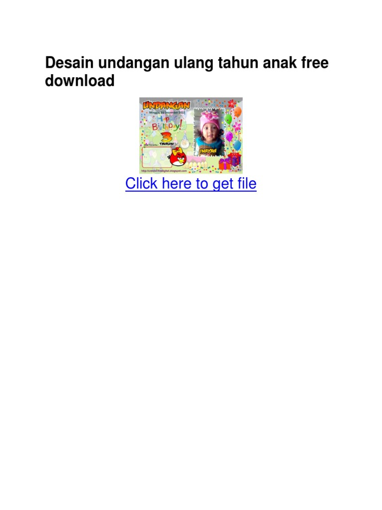 Unduh 88 Koleksi Background Undangan Ulang Tahun Anak Cdr Terbaik