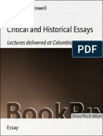 Edward Macdowell Critical and Historical Essays(1)