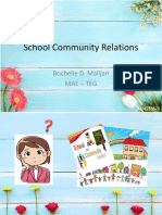 REPORT About School Community Relations