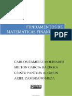 Fundamentos de Matemática Financieras