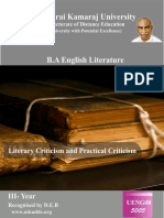 Literary Criticism and Practical Criticism