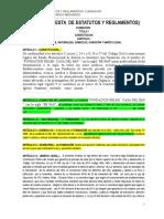 Propuesta de Estatuto y Reglamento Personerias Juridicas