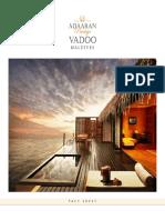 Adaaran Prestige Vadoo Fact Sheet