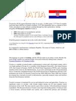 Croatia Brief Explanation
