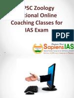 UPSC ZOOLOGY Online Classs