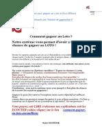 Système Pour Gagner Au Loto Et Euromillions