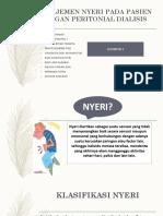 Manajemen Nyeri Pada Pasien Dengan Peritonial Dialisis
