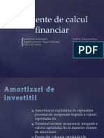 Elemente de Calcul Financiar