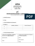 Caratula Informe Laboratorio UC