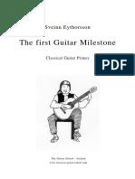 Sveinn Eythorsson. The first guitar mileston