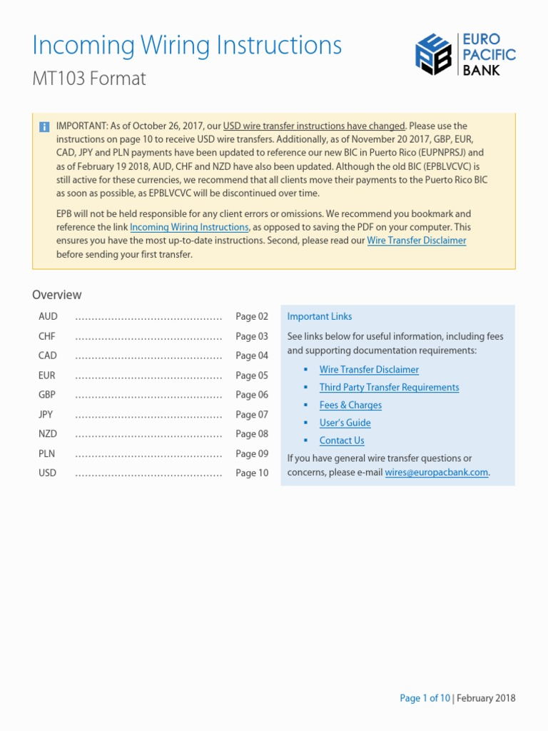 EPB_MT103-1.pdf | Wire Transfer | Banks on bank routing number, bank online banking, bank annual reports, bank insurance,