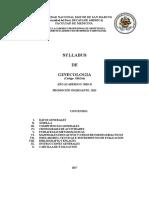 Syllabus de Ginecologia EAPO 2018-II
