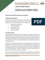 Especificaciones Técnicas Pavimento rígido y Flexible