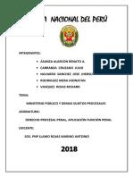 El Ministerio Público y La Policía Nacional