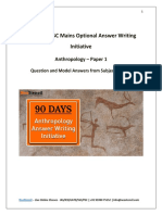 90 Days Answer Writing Anthropology – Paper 1