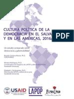 Cultura política de la democracia en El Salvador y en las Américas, 2016/17