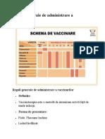 Reguli Generale de Administrare a Vaccinurilor