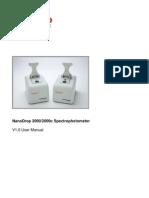NanoDrop 2000 User Manual