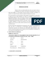 Memoria Descriptiva MURO DE CONTENCION