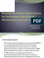Revising the Service Levels Criteria for Performance Based