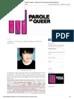 """PAROLE DE QUEER- """"QUEER""""- HISTORIA DE UNA PALABRA por BEATRIZ PRECIADO.pdf"""